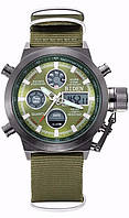 Часы мужские наручные AMST Biden nylon green