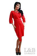 Трикотажное платье Dolce красный до р.52