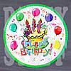 Тарелка Happy Birthday Шарики 18 см (10 шт)