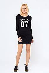 Утепленное женское платье Круз черное