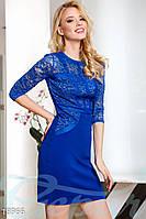 Красивое дайвинговое платье. Цвет синий электрик.