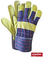 Защитные перчатки, укрепленные яловой кожей (перчатки кожаные рабочие) RSC MC
