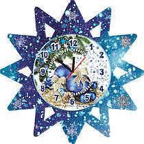 Настенные часы Новогодние Снежинка