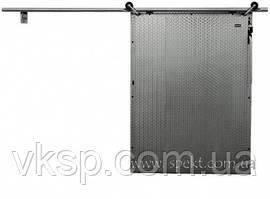 Раздвижная дверь для морозильной камеры из нержавеющей стали  (трубная система разъезда)