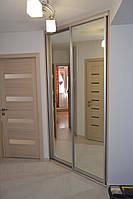 Шафи-купе 2-х дверні з дзеркалом