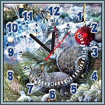 Квадратные настенные часы Новогодние