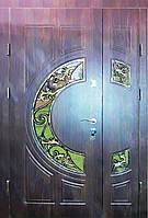 Входная дверь двух створчатая модель П3-377 vinoriy-80 КОВКА