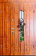 Входная дверь двух створчатая модель Т1-3 217 vinorit-90 КОВКА ЦВЕТОК