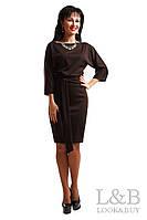 Трикотажное платье Dolce шоколад до р.52