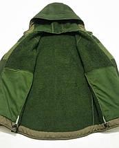 """Тактическая флисовая куртка с капюшоном """"Панда"""" чёрная размер S, фото 3"""