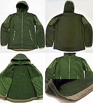 """Тактическая флисовая куртка с капюшоном """"Панда"""" чёрная размер S, фото 2"""
