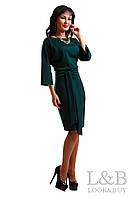 Трикотажное платье Dolce изумруд до р.52