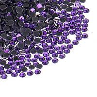 Стразы для дизайна ногтей 1440 шт фиолетовые