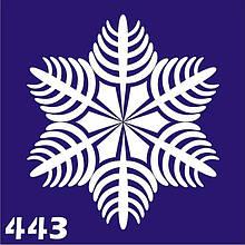 Трафарет для временного тату №443