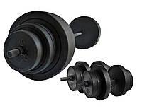 Штанга разборная 110 кг + гантели наборные 30 кг , фото 1