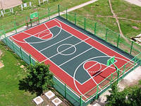 Строительство спортивной площадки для волейбола  36м х 18м (покрытие-полиуретан)