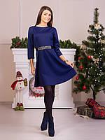 Нарядное платье с атласным поясом в комплекте