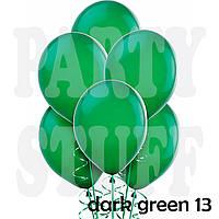Латексные шары Gemar А50 пастель темно-зеленый, 5' (13 см) 100 шт