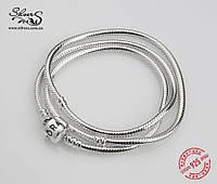 Серебряное колье Пандора (Pandora)  45 см