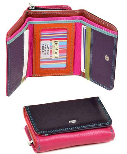 Качественный женский кожаный кошелек dr.Bond WRS-5 violet фиолетовый