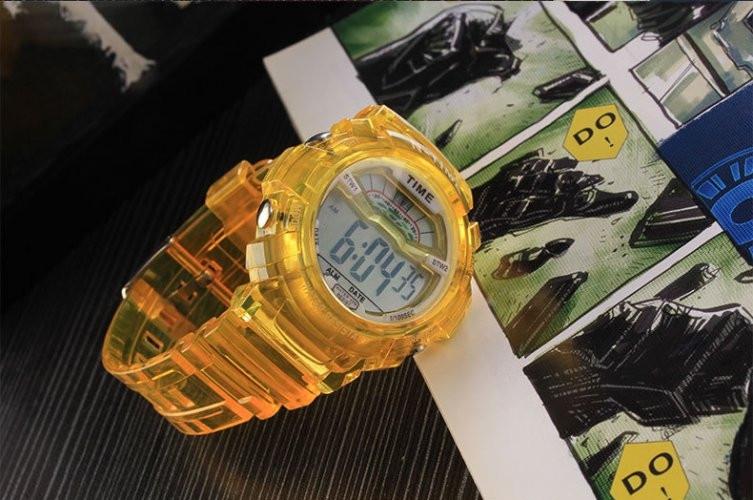 Часы наручные спортивные женские N-Time yellow