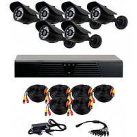 Комплект AHD видеонаблюдения на 6 уличных камер CoVi Security AHD-6W KIT