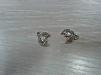 Подвеска Монетка серебро 10 мм