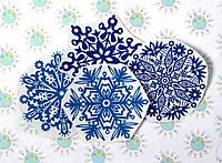 Наклейки для окон Снежинки