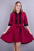 Эра. Нарядное платье больших размеров. Бордо., фото 1