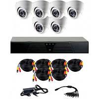 Комплект AHD видеонаблюдения на 6 внутренних камер CoVi Security AHD-6D KIT