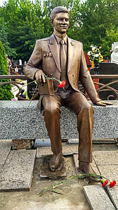 Скульптура из бронзы мужчине № 1