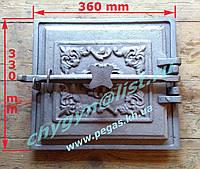 Дверка большая чугунное литье (330х360 мм), фото 1