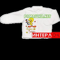 Детская кофточка р. 62 с царапками демисезонная ткань ИНТЕРЛОК 100% хлопок ТМ Алекс 3173 Бежевый1