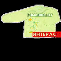Детская кофточка р. 62 с царапками демисезонная ткань ИНТЕРЛОК 100% хлопок ТМ Алекс 3173 Зеленый1