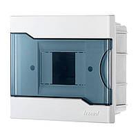 Бокс с прозрачной крышкой ЩРВ-П-4 для внутренней установки 4-х модульных устройств (арт. 730-1000-004)