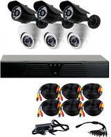 Комплект AHD видеонаблюдения на 6 уличных и внутренних камер CoVi Security AHD-33WD KIT