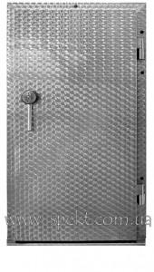Петлевая одностворчатая, кислотоустойчивая дверь  для морозильных камеры