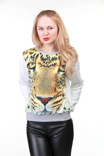 Модный свитшот с рисунком Леопард