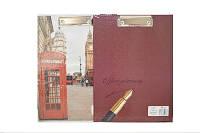 Папка-планшет  А4 №ПО-1 с зажимом, картонная, ламинированная
