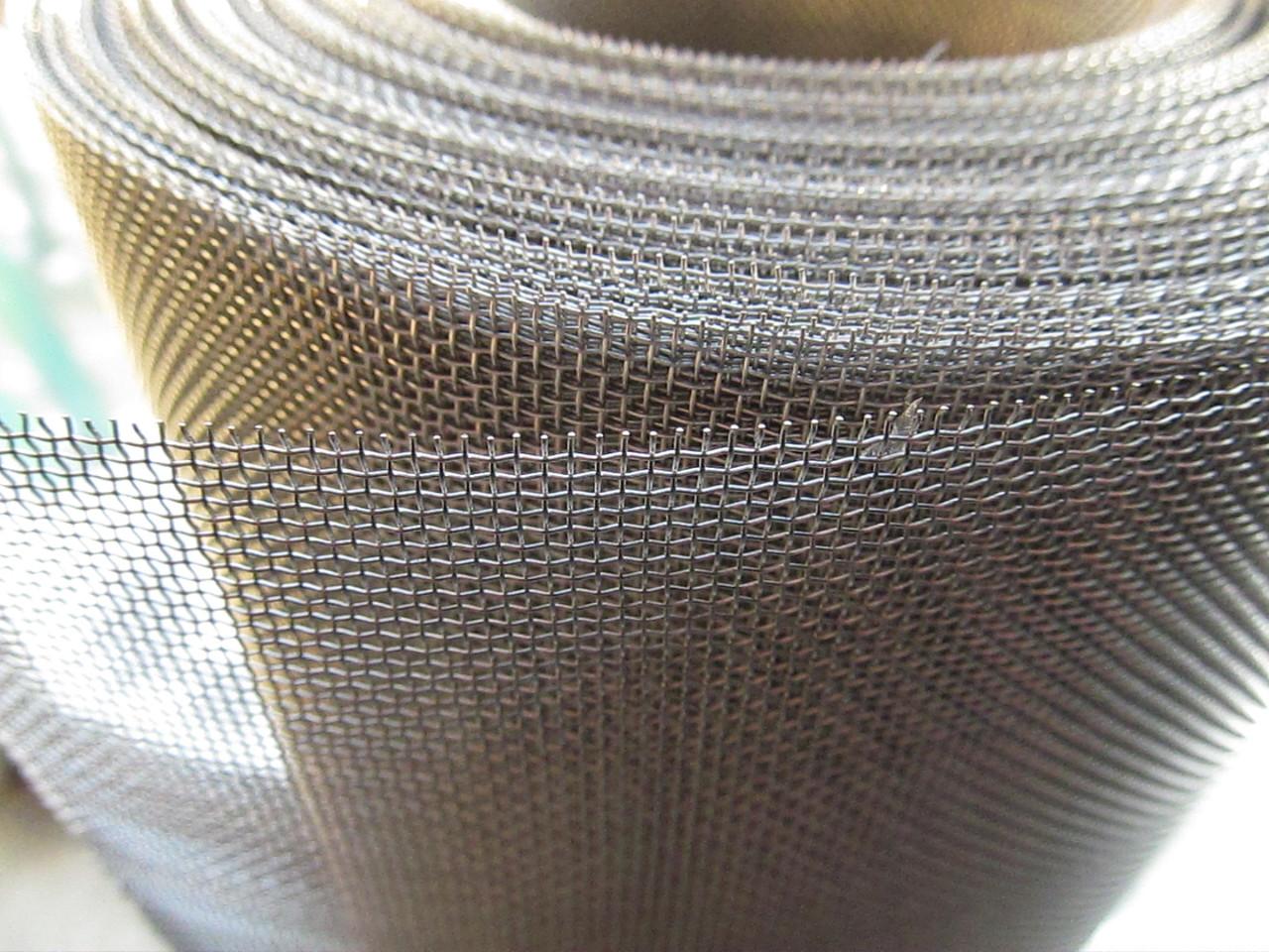 Сетка тканая из нержавеющей проволоки. Ячейка: 1,2мм, Проволока: 0,32мм, Ширина 1м.