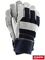Защитные перчатки усиленные яловой кожей (перчатки кожаные рабочие) RB GJS