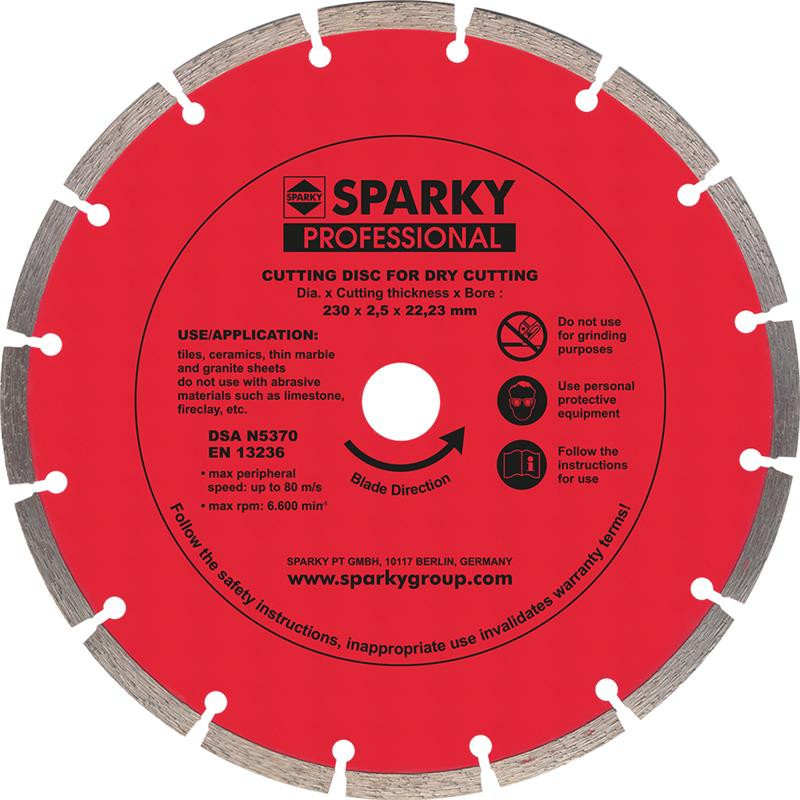 Диск SPARKY 20009540200 алмазный Ф230х2.5x22,23 мм - 1000 Suvenirov в Днепре