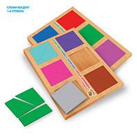Методика Никитиных Сложи квадрат 1 уровень, 12 квадратов. Материал: дерево. Размер: лист А-3
