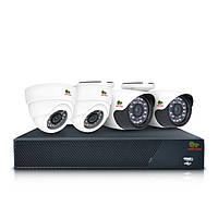 Комплект AHD видеонаблюдения на 4 камеры (2+2) Partizan Mixed Kit 2MP 4xAHD