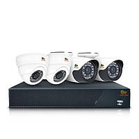 Комплект AHD видеонаблюдения на 4 камеры (2+2) Partizan Mixed Kit 1MP 4xAHD, фото 1