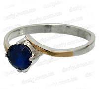 """Женское серебряное кольцо с золотыми пластинами """"Идеал"""", фото 1"""