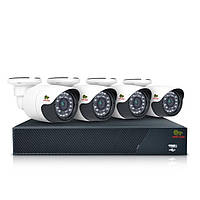 Комплект AHD видеонаблюдения на 4 уличные камеры Partizan Outdoor Kit 1MP 4xAHD