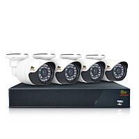 Комплект AHD видеонаблюдения на 4 уличные камеры Partizan Outdoor Kit 1MP 4xAHD, фото 1