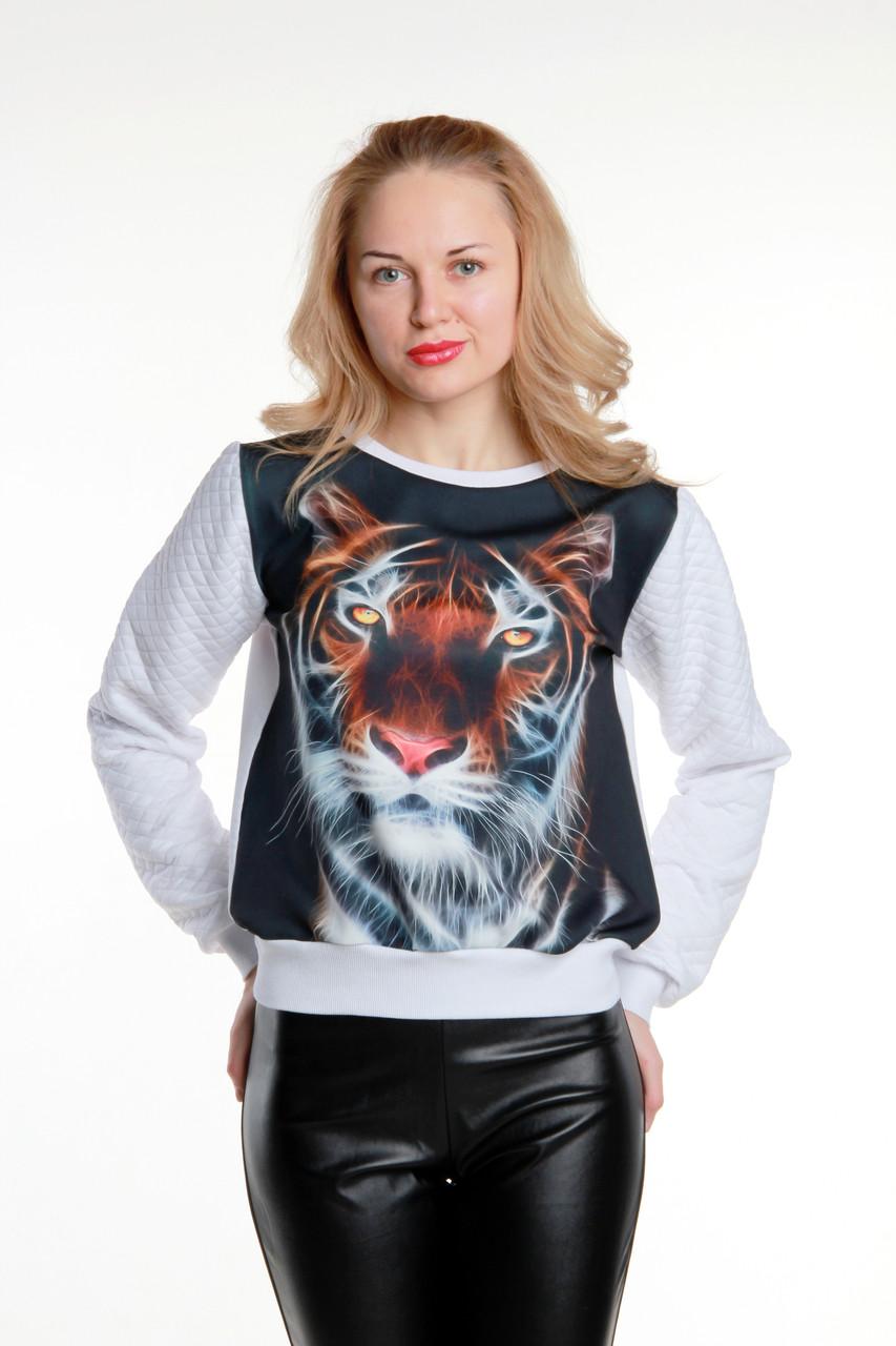 Модный свитшот с рисунком Тигр
