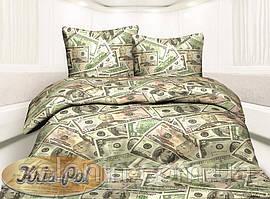 """Полуторный комплект постельного белья """"Доллар""""."""